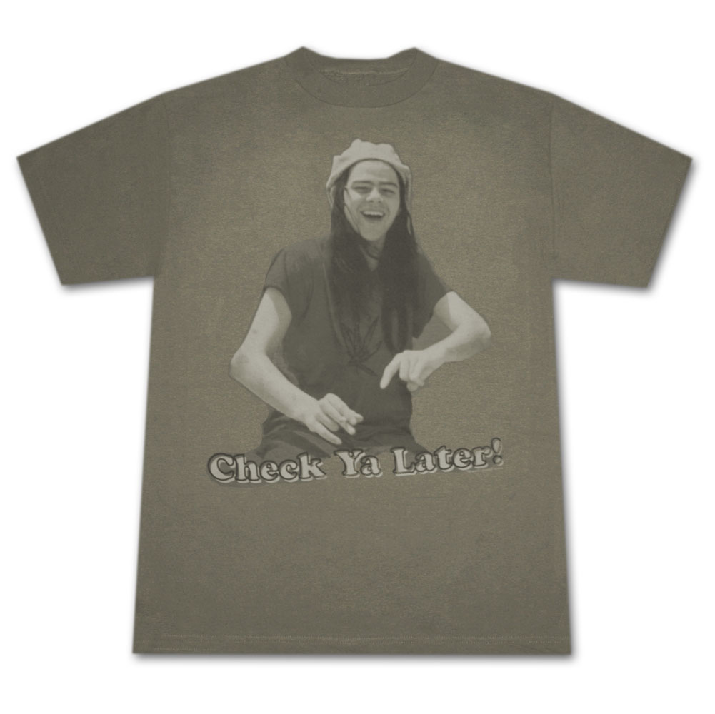 Dazed And Confused Check Ya Later Army Green Graphic TShirt