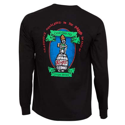 Rogue Ales Dead Guy Long Sleeve Black Graphic TShirt