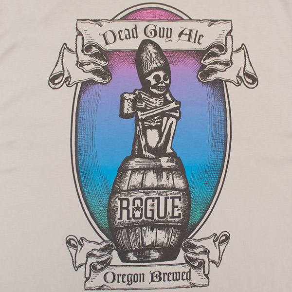 "Dead Guy Ale Tee - ""Gratefully dedicated to the Rogue in Each of Us"""