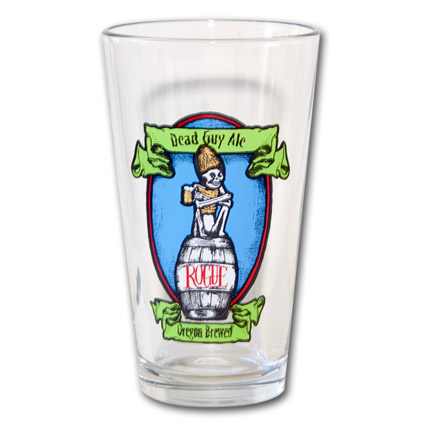 Rogue Dead Guy Logo Pint Glass