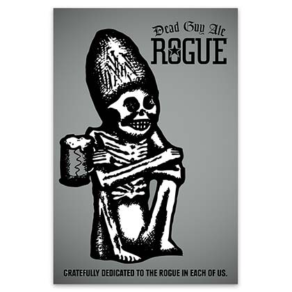 Rogue Dead Guy Ale 11x17 Silver Poster