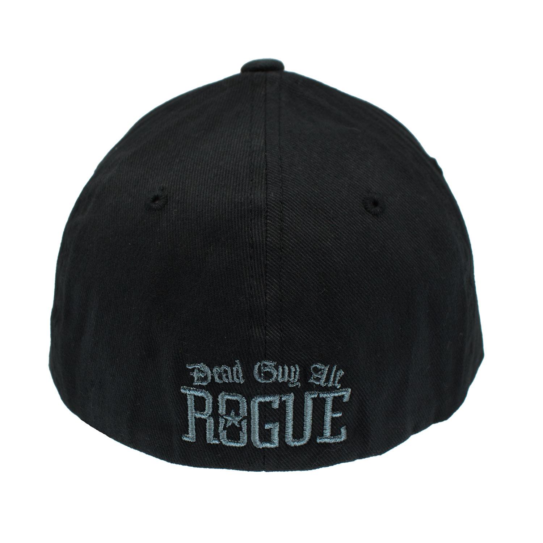 Dead Guy Black Embroidered Flex Fit Hat