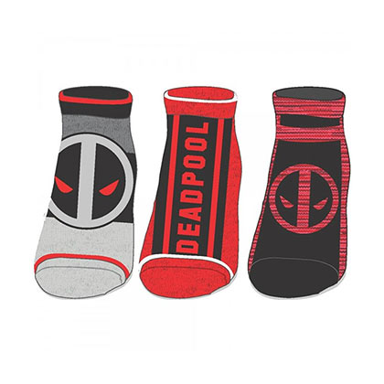 Deadpool Women's Ankle Socks 3-Pack