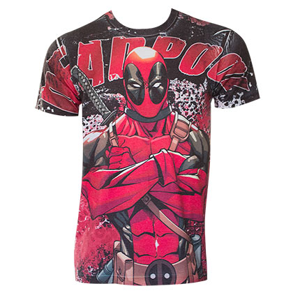 Deadpool Men's Red Sublimation T-Shirt