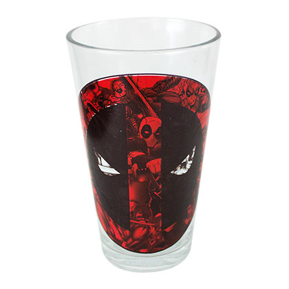 Deadpool Logo Pint Glass