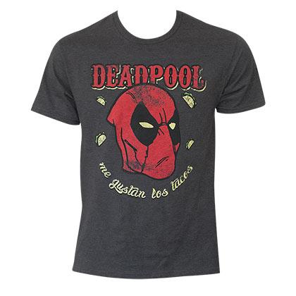 Deadpool Loves Tacos Gray T-Shirt