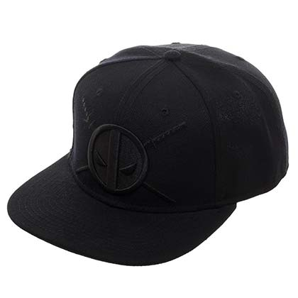 Deadpool Logo Black on Black Hat