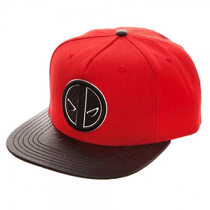 Deadpool Red Carbon Fiber Snapback Hat