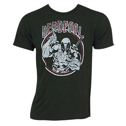 Deadpool Men's Black Circle Logo T-Shirt