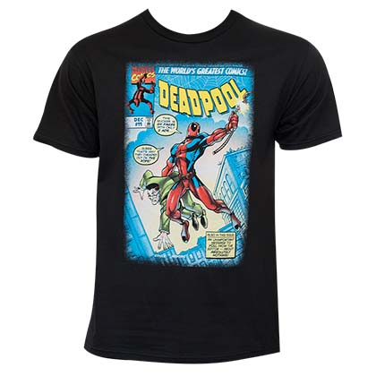Deadpool Strong Pool Black Tee Shirt