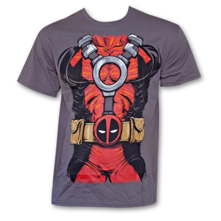Deadpool Costume T-Shirt - Grey