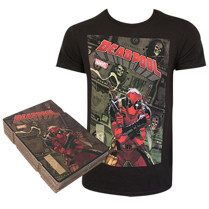 Deadpool Black Corrugated Box Men's T-Shirt