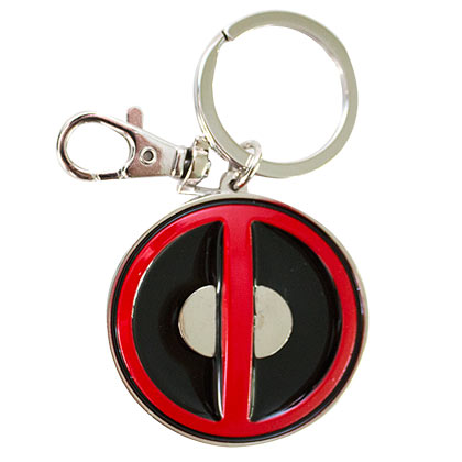 Deadpool Red & Black Enamel Keychain