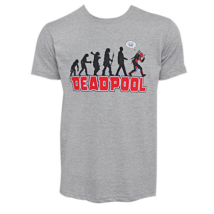 Deadpool Evolution Men's Ash Grey T-Shirt