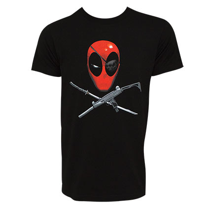 Deadpool Eyepatch Men's Black Tee Shirt