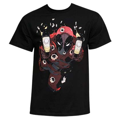 Men's Cotton Deadpool Glow In The Dark Empty Clips Tee Shirt