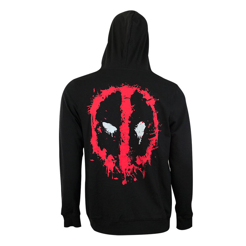 Deadpool Men's Black Zip Hoodie