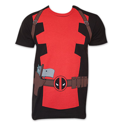 Black I Am Deadpool Costume T-Shirt