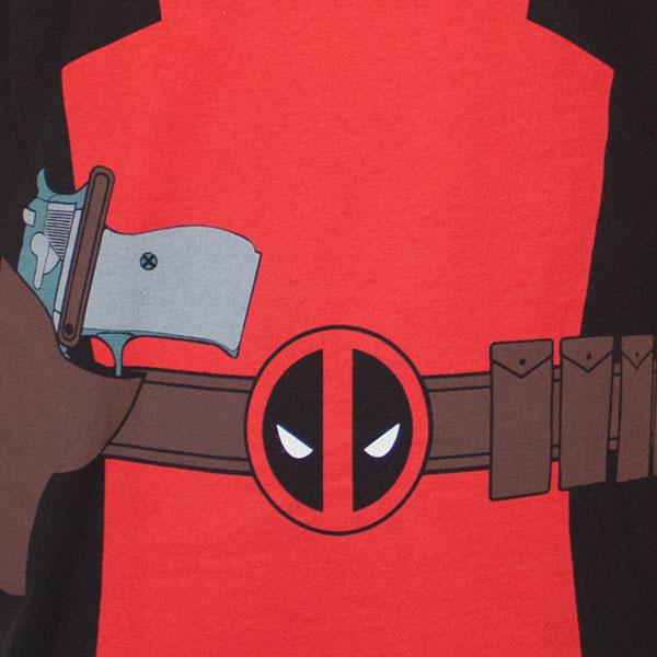 Black I Am Deadpool Costume T-Shirt