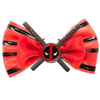 Deadpool Red Comic Hair Bow