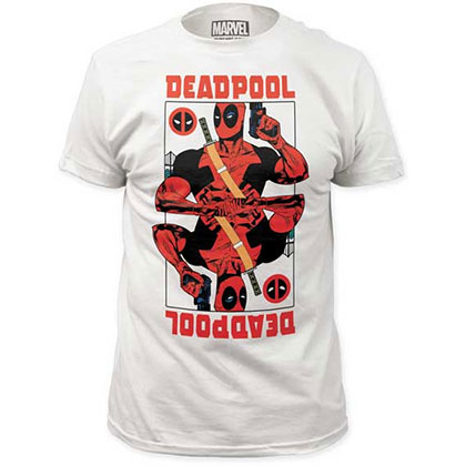 Deadpool Wildcard Men's White T-Shirt