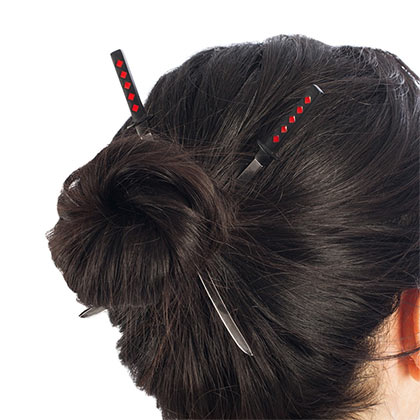 Deadpool Hair Katana Set