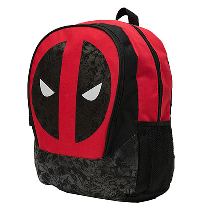 Deadpool Logo 16 Inch Black Backpack