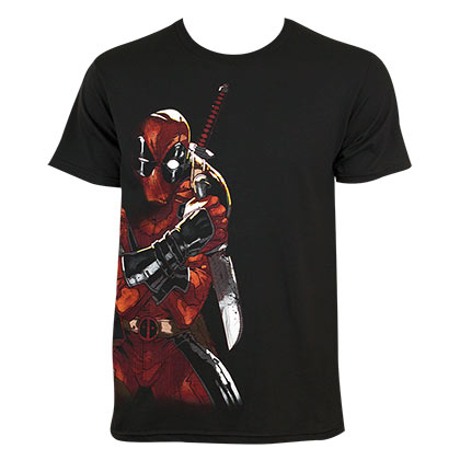 Deadpool Men's Black Merculese T-Shirt