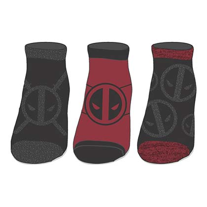 Deadpool Metallic Women's Ankle Sock Set Of 3