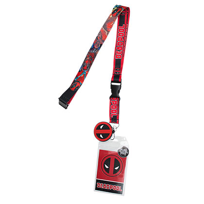 Deadpool Logo Lanyard