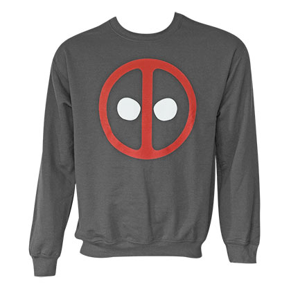 Deadpool Men's Grey Long Sleeve Crew Neck Sweatshirt