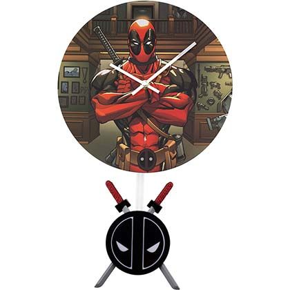 Deadpool Superhero Pendulum Clock