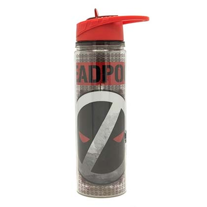Deadpool Reverse Logo 550ml Water Bottle