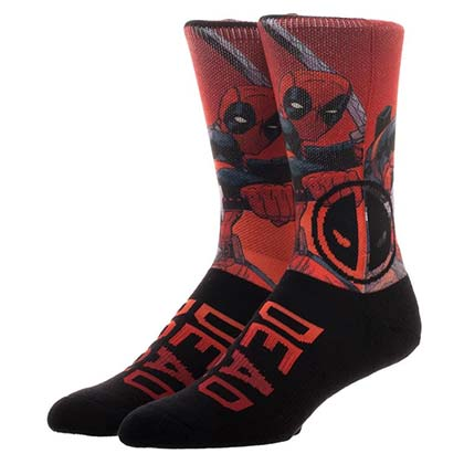 Deadpool Sublimated Crew Socks