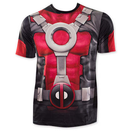 Deadpool Sublimated Costume Tee Shirt