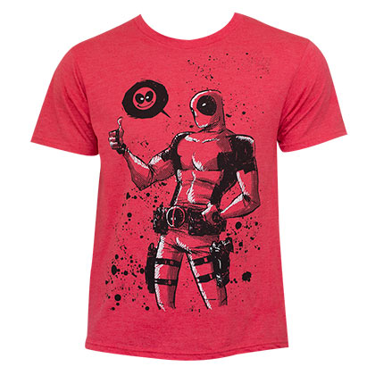 Deadpool Dead Thumb Red Tee Shirt