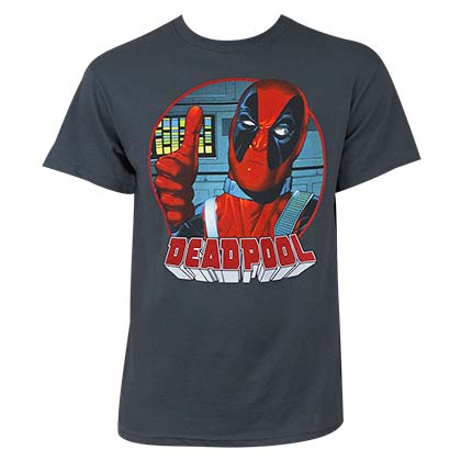 Deadpool Gray Thumbs Up T-Shirt