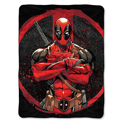 Deadpool Tough Guy 40x60 Plush Fleece Throw Blanket