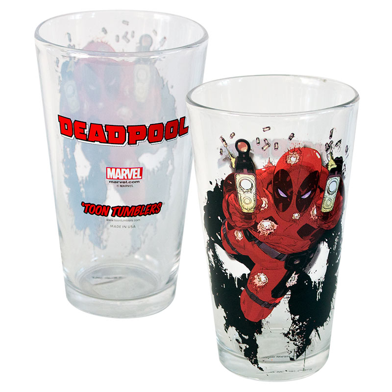 Daredevil Shooter Toon Tumbler 16 Ounce Pint Glass