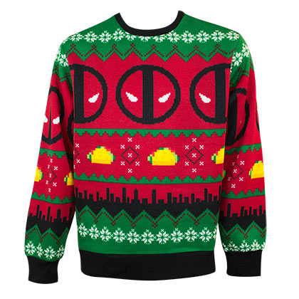 Deadpool Decorative Holiday Ugly Sweater