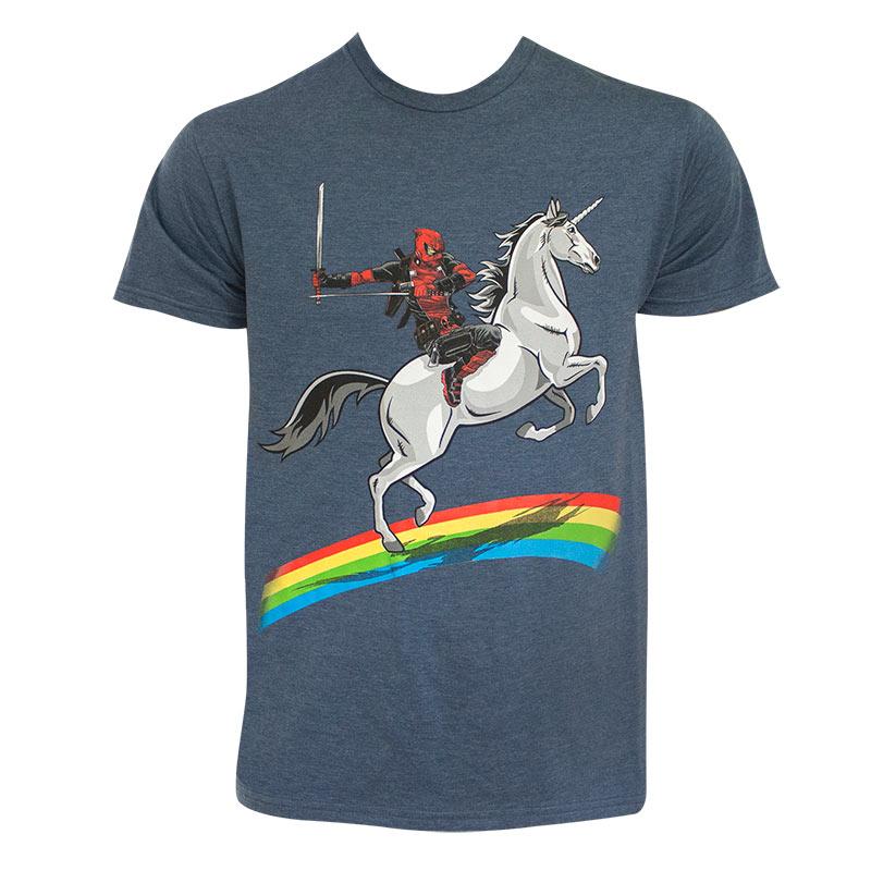 Deadpool Rainbow Unicorn Men's T-Shirt