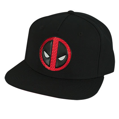 Deadpool Black Snapback Hat