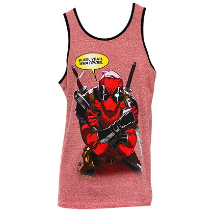 Deadpool Men's Heather Red Whatever Tank Top