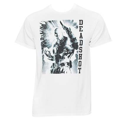 Deadshot Men's White Graphic T-Shirt