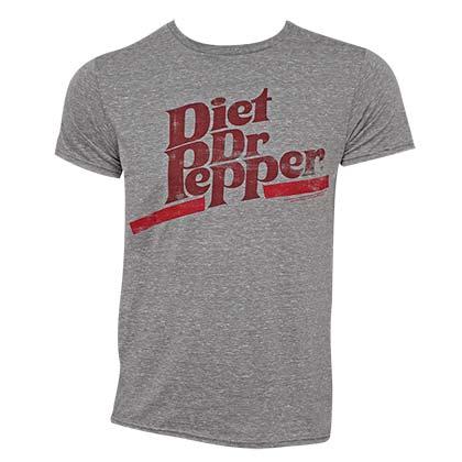 Diet Dr. Pepper Logo Grey Tee Shirt