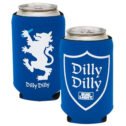 Bud Light Blue Dilly Dilly Can Insulator