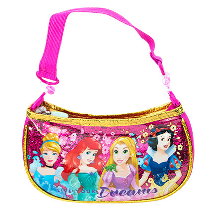 Disney Princess Youth Girls Sparkle Pink Handbag Purse