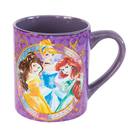 Disney Princesses Purple Glitter Mug