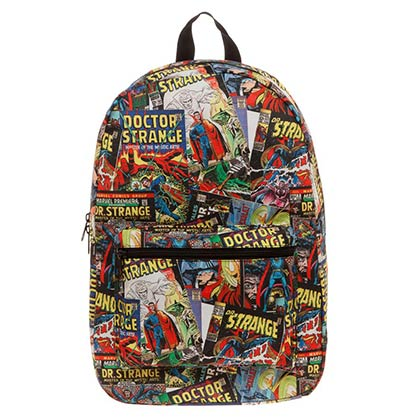 Dr. Strange Multi-Color Sublimated Comic Book Backpack