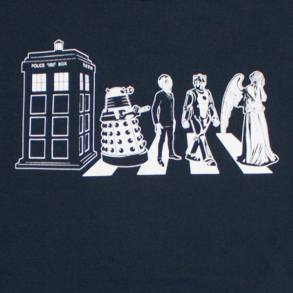 Men's Navy Dr. Who Abbey Road Tee Shirt